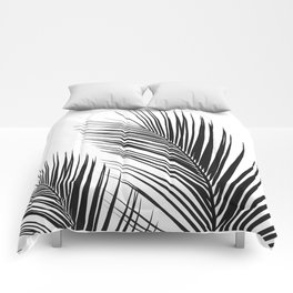 Tropical Palm Leaves #1 #botanical #decor #art #society6 Comforters