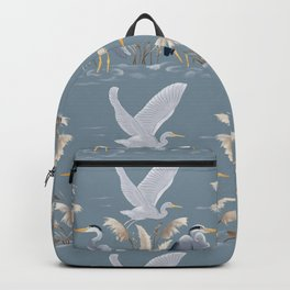 Great Blue Heron - Blue and Gray Backpack