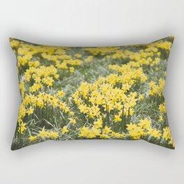Field of daffodils Rectangular Pillow