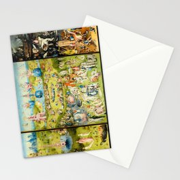 The Garden of Earthly Delights by Bosch Stationery Cards