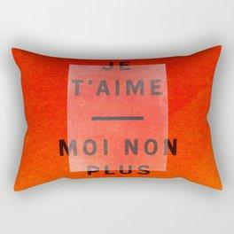 Je t'aime...moi non plus Rectangular Pillow