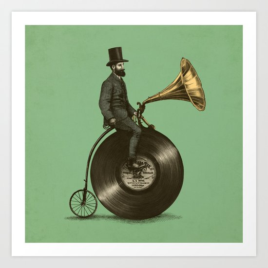 Music Man (Green Option) Art Print