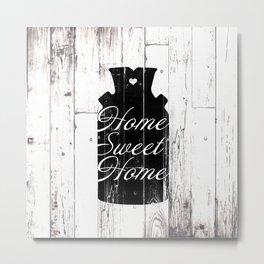 Home Sweet Home Rustic Jug Metal Print