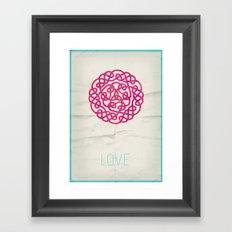Love poster Framed Art Print
