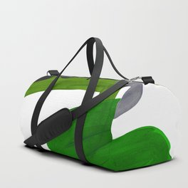 Mid Century Vintage 70's Design Abstract Minimalist Colorful Pop Art Olive Green Dark Green Grey Duffle Bag