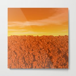 Sunrise On Planet Mars Metal Print