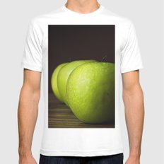 Little Green apples Mens Fitted Tee MEDIUM White