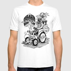 Respiration Apparat SMALL White Mens Fitted Tee