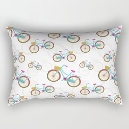 Retro Bicycle Pattern Rectangular Pillow