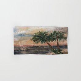 Beach Side  Oil on Canvas Hand & Bath Towel