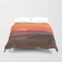 Sunrise Over Blue Ridge Mountains Duvet Cover