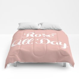 Rosé All Day Comforters