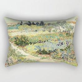 Vincent Van Gogh : Garden at Arles Rectangular Pillow