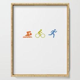Triathlon Marathon Sport saying gift Serving Tray