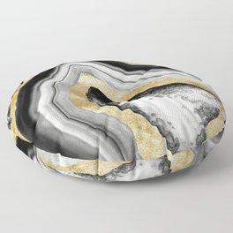 Agate Gold Foil Glam #1 #gem #decor #art #society6 Floor Pillow