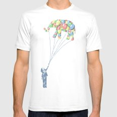 Elephants Can Fly Mens Fitted Tee MEDIUM White