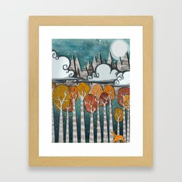 Adventures is Out there - Aspen Falls  Framed Art Print