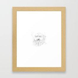 Downward Framed Art Print