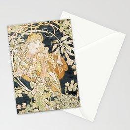 1898 Femme A Marguerite Alphonse Mucha Stationery Cards
