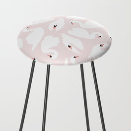 Swan Pattern on Pink 030 Counter Stool