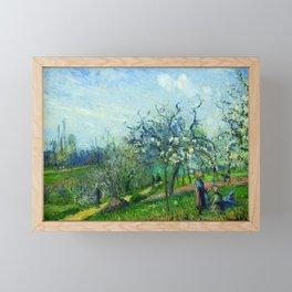 """Camille Pissarro """"Flowering orchard"""" Framed Mini Art Print"""