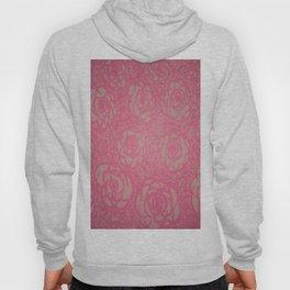 Hot Pink Rose Bed Print Hoody