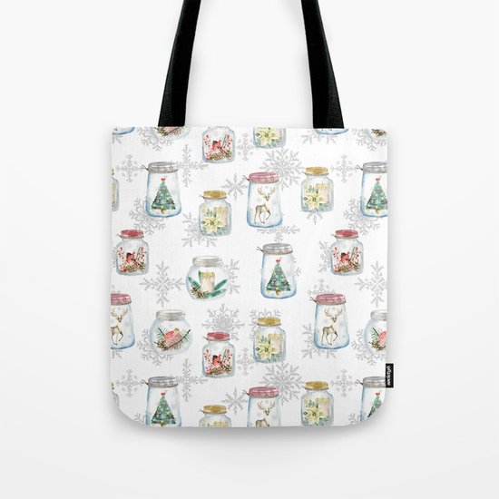 Christmas glass jars Tote Bag