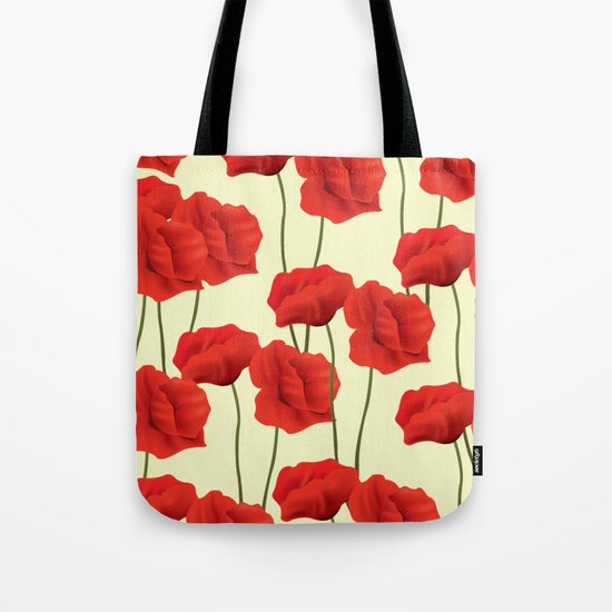 Red flowers #society6 Tote Bag