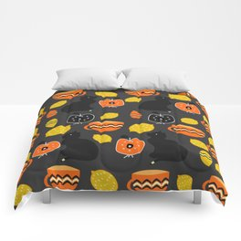Cats, lemons and teacups Comforters