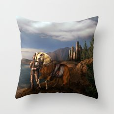 The Knight of the Kingdom Throw Pillow