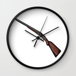 Shotgun Illustration Wall Clock