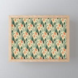 a lot of flowers for art deco green Framed Mini Art Print