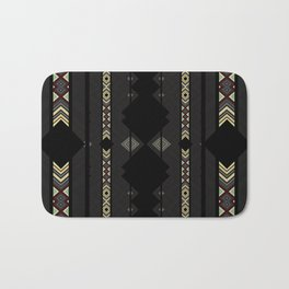 Southwestern Black Diamond Stripe Patterns Badematte