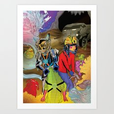 Living In a World of Monsters Art Print