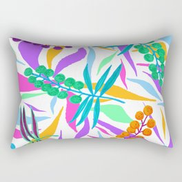 White Wattles Rectangular Pillow
