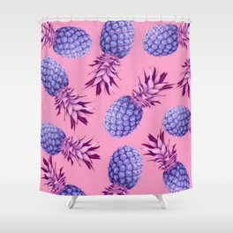 Violet pineapples Shower Curtain
