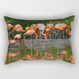 Flamingo Reflection Rectangular Pillow