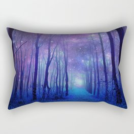 Fantasy Path Purple Blue Rectangular Pillow