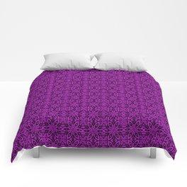 Dazzling Violet Floral Comforters