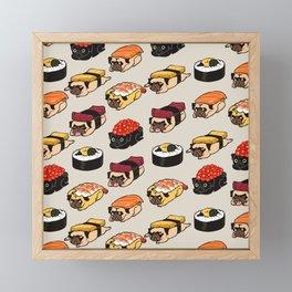 Sushi Pug Framed Mini Art Print