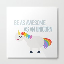 Awesome Unicorn Metal Print