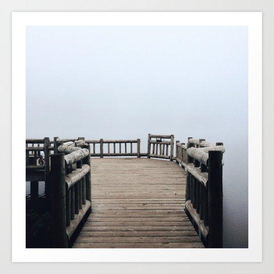 Fog Walk Art Print