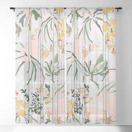 wallpaper poem Sheer Curtain