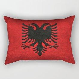 National flag of Albania with Vintage textures Rectangular Pillow