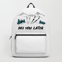 Ski You Later - Ski Scene Backpack