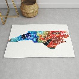 North Carolina - Colorful Wall Map by Sharon Cummings Rug