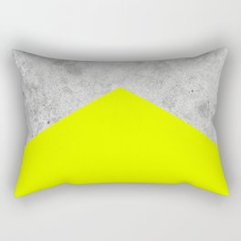 Concrete Arrow - Neon Yellow #521 Rectangular Pillow