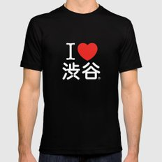 I ♥ Shibuya MEDIUM Black Mens Fitted Tee