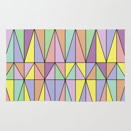 Pastel Triangles - Geometric Pattern Rug