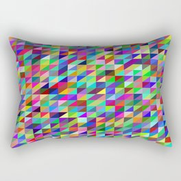 Colorful small trangles digital pattern Rectangular Pillow